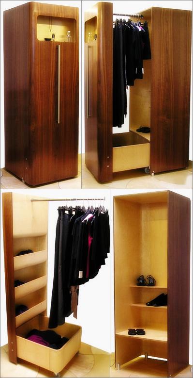 Раскладной компактный шкаф