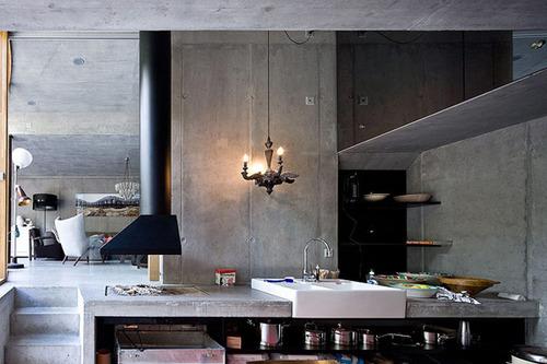 Дизайн кухни дома в норе