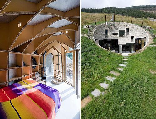 Дизайн спальни загородного дома в Швейцарии