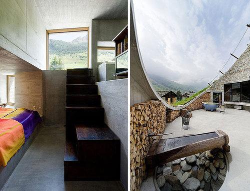 Дом в норе дизайн спален, запас дров