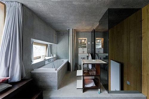 Дизайн ванной комнаты подземного дома