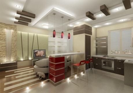 Кухня студия - планировка