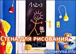 Стена для рисования в детской комнате