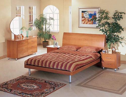 Дизайн спальни в теплых тонах