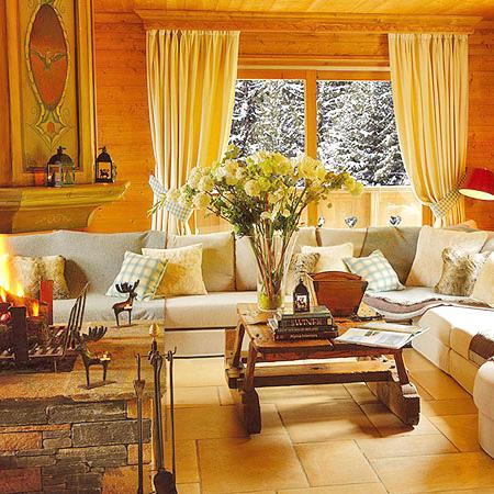 Стиль кантри в дизайне интерьера гостиной