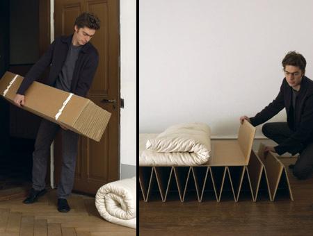 Экологичная картонная кровать