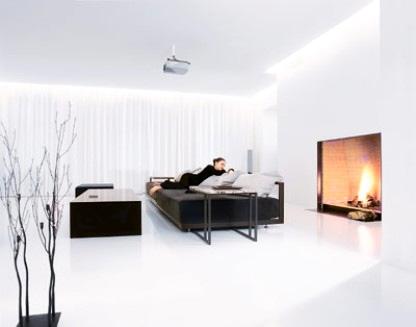 Минимализм стиль дизайна интерьера гостиной