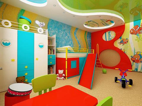 Пробковые стены и пол в детской комнате