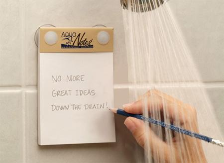 Акваблокнот из непромокаемой бумаги для душа