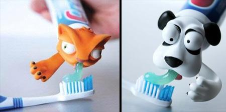 Крышечки-звери для зубной пасты для детей