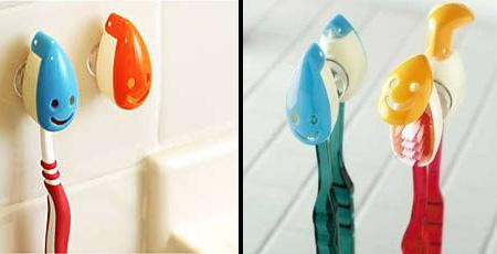 Смайлики держатели-крышечки для зубных щеток детей