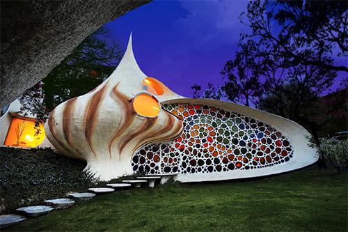 Дизайн экстерьера дома-ракушки