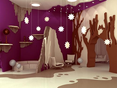 Оформление детской игровой комнаты, фотографии