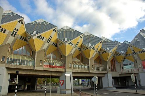 Моднявый кубический дом в Роттердаме