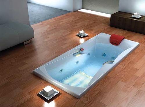 Преимущества ванны на уровне пола
