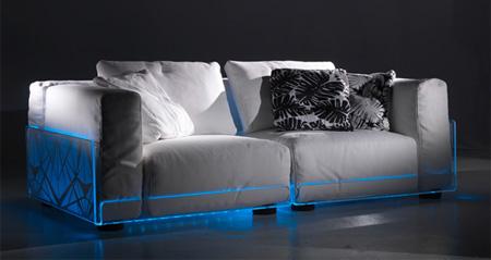 Дизайнерский диван со светодиодной подсветкой
