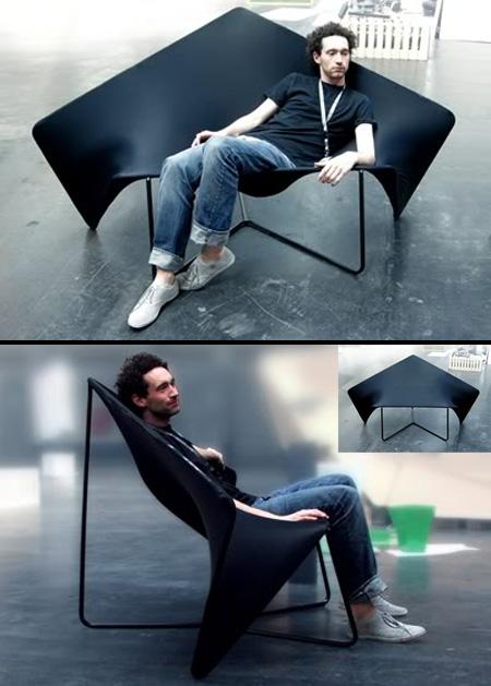 Современный эластичный диван