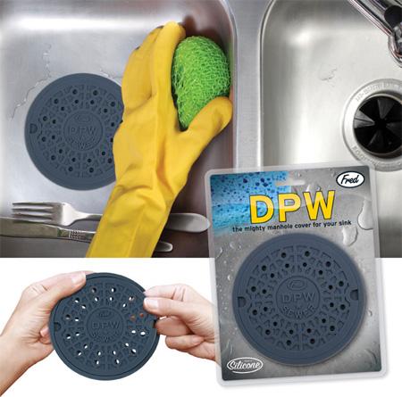 Ситечко для умывальника на кухню в виде крышки для канализационных люков