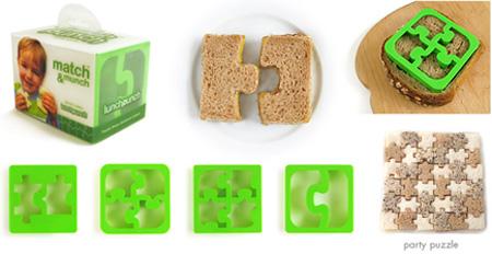 Формочки для вырезания хлеба в виде пазлов