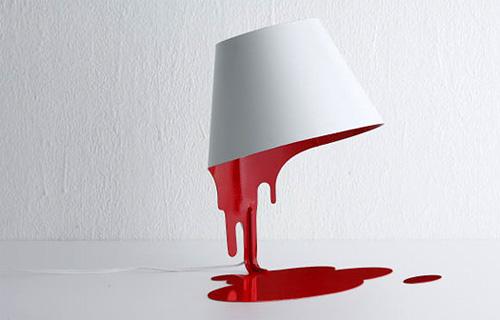 Жидкая лампа, текущая краска