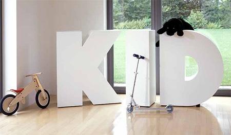 Мебель буквы с полками в детскую комнату