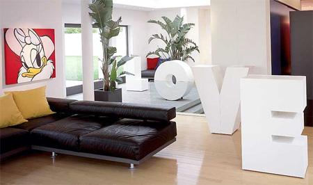Мебель-буквы для дизайна всего дома