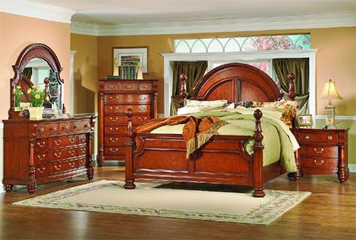 Спальня из красного дерева в английском стиле