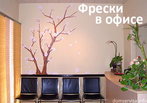 Фрески в дизайне интерьера офиса