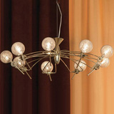 Люстра с голыми лампами-шариками