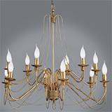 Люстра с лампочками в стиле свечек