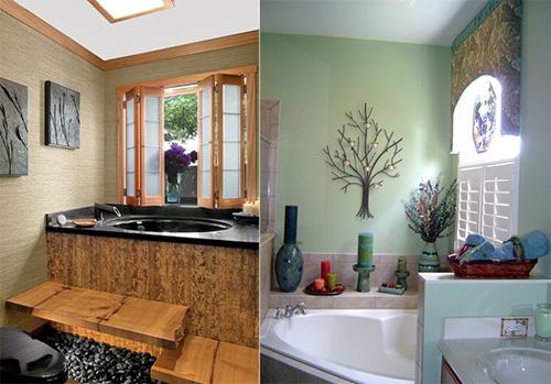 Разделение пространства в маленькой ванной комнате