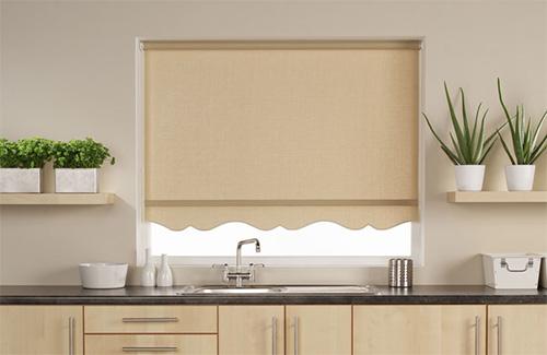 Кухонные рулонные шторы с красивым краем