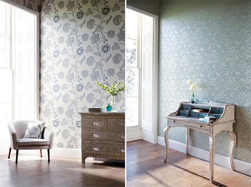 Декор квартиры тканью с органическим рисунком