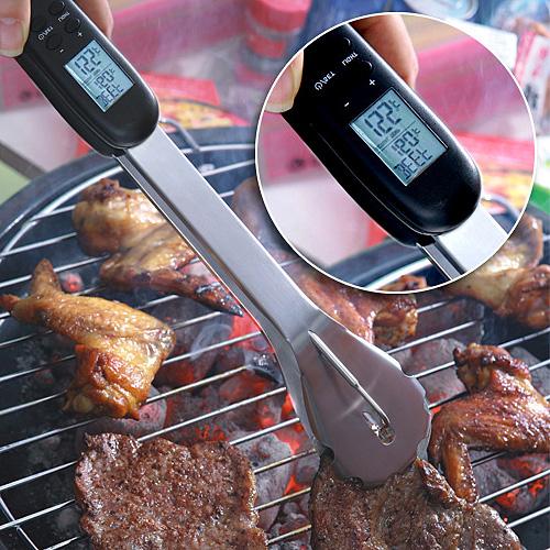 Цифровые щипцы для измерения температуры жареного мяса