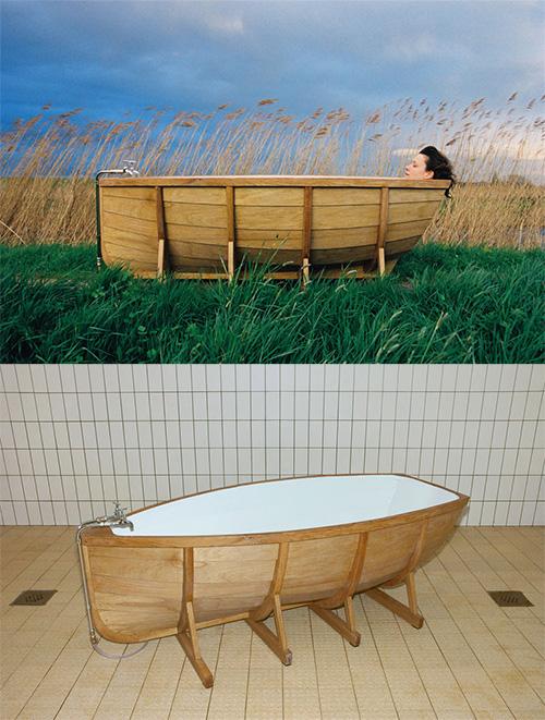 Ванна лодка дерево дуб кедр