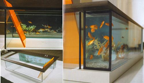 Стильная ванна аквариум