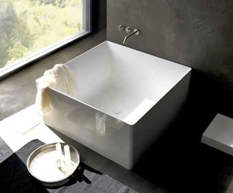 Симметричная квадратная ванна