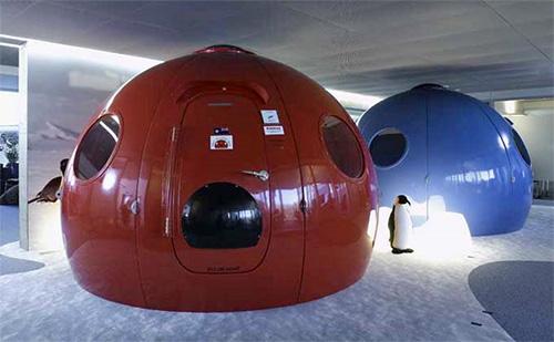Офис Гугл, рабочее место в форме полярной капсулы