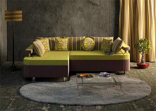 Визуализация дизайна дивана, комнаты, создано компанией iCube.ru
