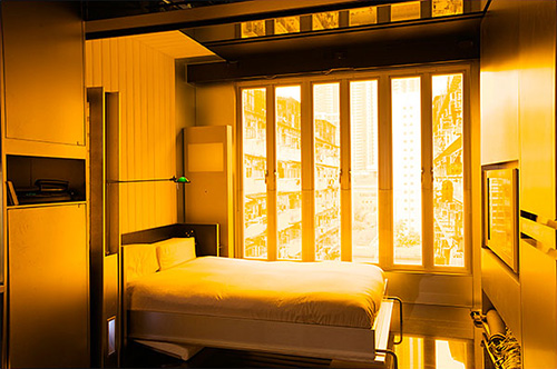 Спальня со складывающейся двухспальной кроватью