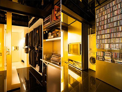 Гардероб, шкаф, стиральная и сушильная машинки, телевизор, видеотека