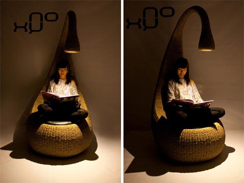 Кресло с лампой