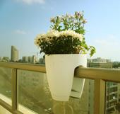 Цветочный горшок на балконе