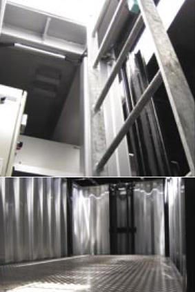 Подземный гараж вид изнутри