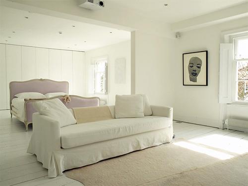 Гостиная спальня в стиле минимализма