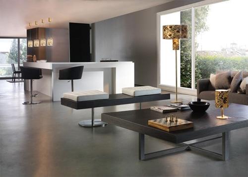 Интерьер квартиры в минималистском стиле выглядит как квартира-студия.