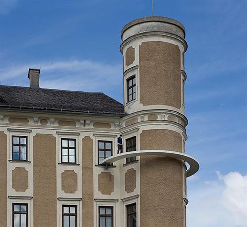 Экстремальный переход вокруг башни без поручней