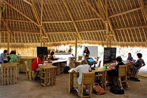 Обычный урок в бамбуковом классе на Бали