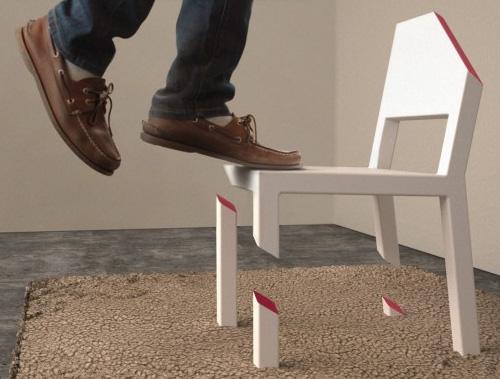 Стильный стул с подрезанными ножками