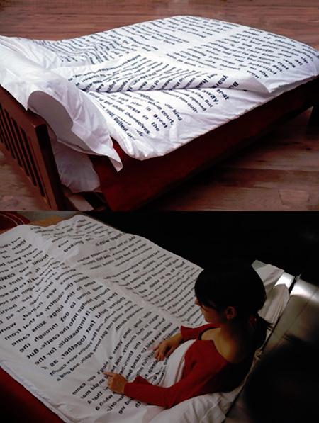 Покрывало с чтением на ночь